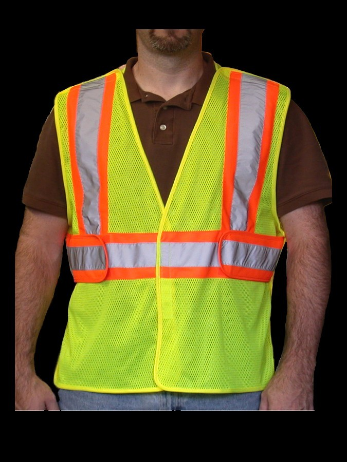 V1500 Class 2 Lime Mesh Safety Vest