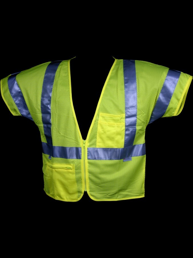 V150 Class 3 Lime Mesh Safety Vest