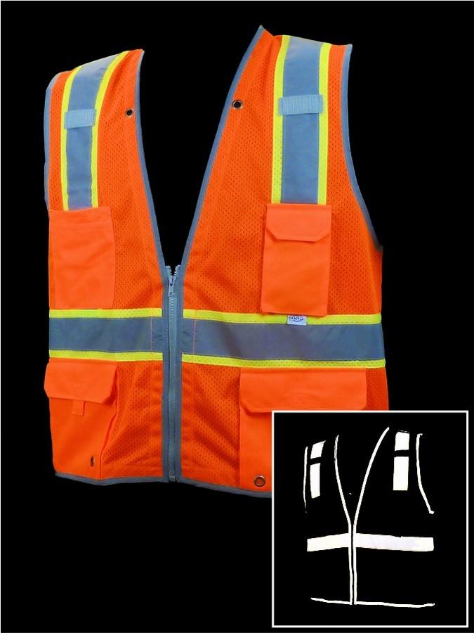 V1800 Orange Class 2 Mesh Vest