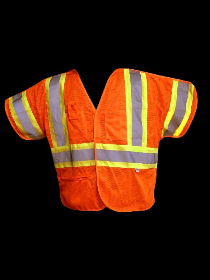 VB255 Class 3 Orange Mesh Safety Vest