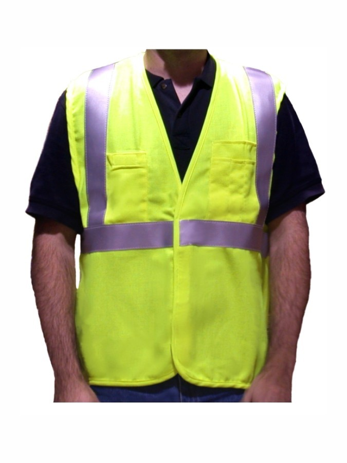 VFR3000 Class 2 Lime Fire Resistant Safety Vest