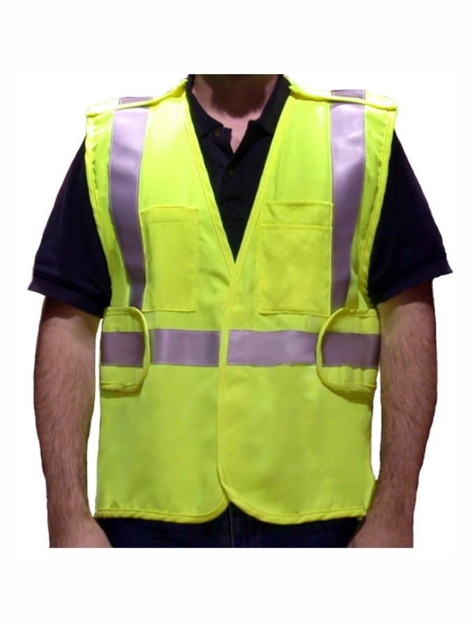 VFR3200 Class 2 Lime Fire Resistant Safety Vest