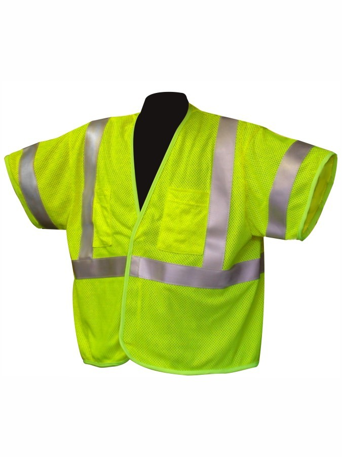 VFR3500 Class 3 Lime Fire Resistant Safety Vest