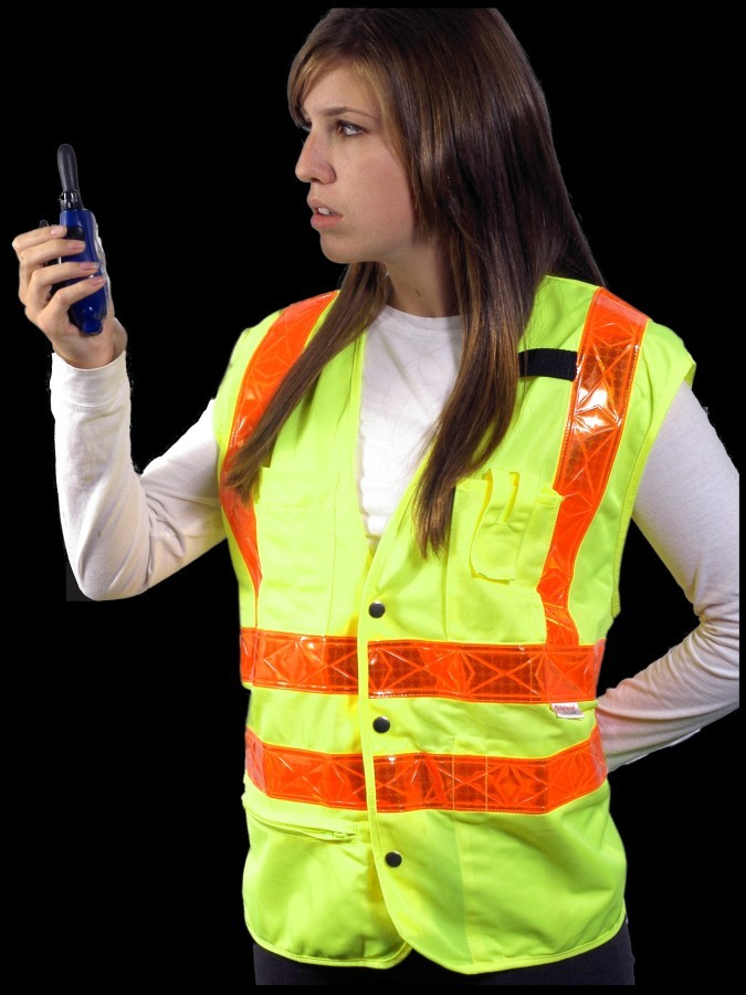 VH302-2 Class 2 Lime Solid Safety Vest