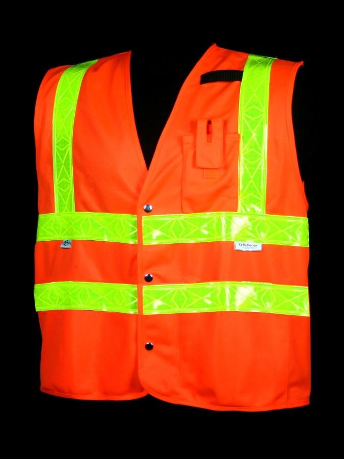 VH402-2 Class 2 Orange Solid Safety Vest