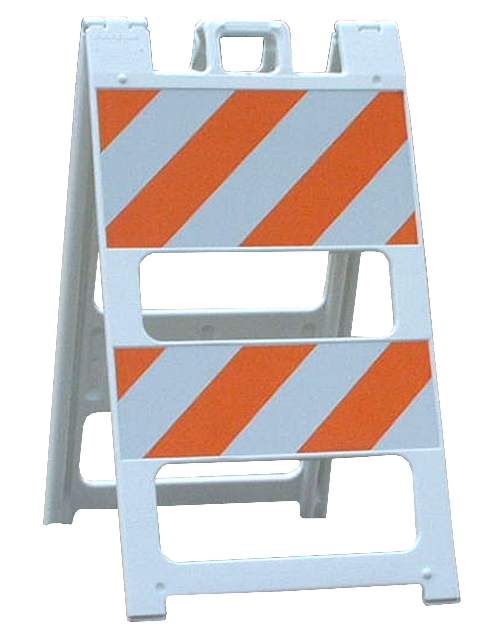 Road Barricade Signs White Type Ii