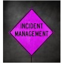 "36"" Pink Incident Management Roll-Up Sign"