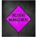 "48"" Pink Incident Management Roll-Up Sign"