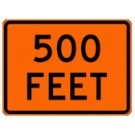 "W16-2p 24"" x 18"" High Intensity Specify Feet Sign"