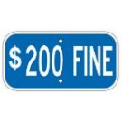 "G-13ERA3 12"" x 6"" Blue $200 Fine Sign"