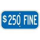 "G-13HRA3 12"" x 6"" Blue $250 Fine Sign"