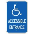 "G-65NRA5 12"" x 18"" Accessible Entrance Sign"