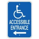 "G-65LRA5 12"" x 18"" Accessible Entrance Sign"