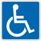"""D9-6RA 12"""" x 12"""" Accessible Symbol Sign"""