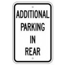 "R7-3RA5 12"" x 18"" EGR Grade Additional Parking In Rear Sign"