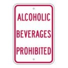 "R-88RA5 12"" x 18"" EGR Grade Alcoholic Beverages Prohibited Sign"
