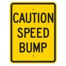 "G-52RA9 18"" x 24"" EGR Grade Caution Speed Bump Sign"