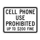 "S7-1T 24"" x 18"" Engineer Grade Cell Phone Use Prohibited Sign"