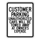 "G-45RA9 18"" x 24"" EGR Grade Customer Parking ( Others Towed) Sign"