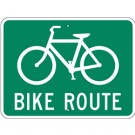 D11-1SRA15  EGR Grade Bike Route Sign