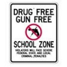 "S2-8 24"" x 30"" EGR Grade Drug Free Gun Free School Zone Sign"