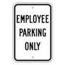 "G-22RA5 12"" x 18"" EGR Grade Employee Parking Only Sign"