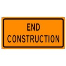 "G20-2 60"" x 24"" High Intensity End Construction Sign"