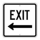 "G-112LRA8 18"" x 18"" EGR Grade Exit Left Arrow Sign"