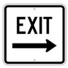 "G-112RRA8 18"" x 18"" EGR Grade Exit Right Arrow Sign"