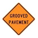 "W8-15 36"" x 36"" High Intensity Prismatic Grooved Pavement Sign"