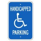 "G-42RA5 12"" x 18"" Handicapped Parking Sign"