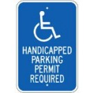 "G-53RA5 12"" x 18"" Handicapped Parking Permit Required Sign"