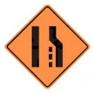 "W4-2 36"" x 36"" High Intensity Prismatic Lane Reduction Symbol Sign"
