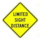 "W14-4 30"" x 30"" High Intensity Limited Sight Distance Sign"