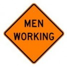 "W21-1 36"" x 36"" High Intensity Prismatic Men Working Sign"