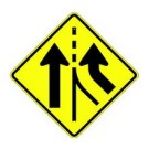 "W4-3 30"" x 30"" High Intensity Merging Traffic Sign"