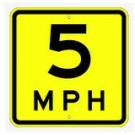 "W13-1 18"" x 18"" High Intensity MPH Sign"