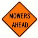 "W21-6 36"" x 36"" High Intensity Prismatic Mowers Ahead Sign"