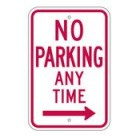 "R7-1RRA5 12"" x 18"" EGR Grade No Parking Any Time Arrow Right Sign"