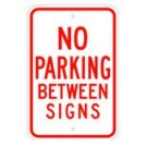 "R-42RA5 12"" x 18"" EGR Grade No Parking Between Signs Sign"
