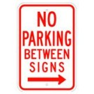 "R-42RRA5 12"" x 18"" EGR Grade No Parking Between Signs Arrow Right Sign"