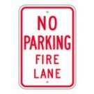 "R-53RA5 12"" x 18"" EGR Grade No Parking Fire Lane Sign"
