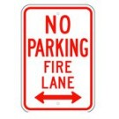 "R-54RA5 12"" x 18"" EGR Grade No Parking Fire Lane Double Arrow Sign"