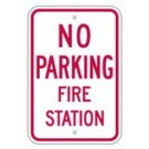 "R-76RA5 12"" x 18"" EGR Grade No Parking Fire Station Sign"