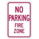"R-77RA5 12"" x 18"" EGR Grade No Parking Fire Zone Sign"