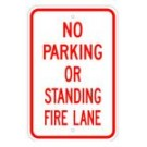 "R-201RA5 12"" x 18"" EGR Grade No Parking Or Standing Fire Lane Sign"
