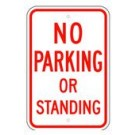 "R-49RA5 12"" x 18""  EGR Grade No Parking Or Standing Sign"