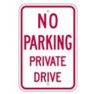 "R-80RA5 12"" x 18"" EGR Grade No Parking Private Drive Sign"
