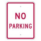 "R8-3RA9 18"" x 24"" EGR Grade No Parking Sign"