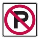 "R8-3SRA16 24"" x 24"" EGR Grade No Parking Symbol Sign"